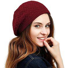 JULY SHEEP Cappello basco da donna fatto a maglia intrecciata in lana  merino basco francese invernale e autunnale a tinta unita  cappellini   cappelli ... f891c35f7363