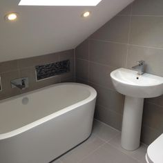 #VPShareYourStyle Lee from Whitley Bay has excellently used the space in his bathroom by fitting a white bath under a sloping roof and maximizing on floor space.