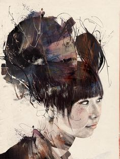 """Russ Mills aka byroglyphics (born is a graphic designer from Penzance, UK """" My work dwells in a netherworld between urban fine art and contemporary graphics, A collision of real and digital. Art And Illustration, Illustrations, Psychedelic Art, Portrait Art, Portraits, Art And Architecture, Great Artists, Collage Art, Painting & Drawing"""