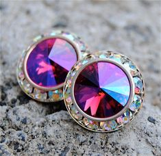 Hey, I found this really awesome Etsy listing at https://www.etsy.com/uk/listing/112892587/hot-pink-mist-aurora-borealis-earrings