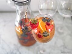 Red, White, and Blue Berry Sangria