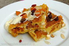 Bulgurový nákyp s meruňkami Polenta, Lasagna, Quinoa, Pancakes, French Toast, Low Carb, Smoothie, Breakfast, Ethnic Recipes