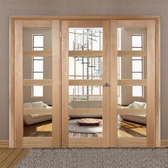 Easi-Frame Oak Door Set, GOSHA4L-COEOP23, 2005mm Height, 2214mm Wide. oakdoor #internaloakdoor #glazedoakdoor