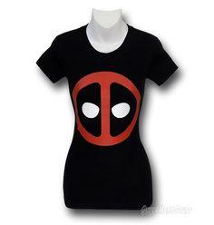 Images of Deadpool Symbol Junior Womens T-Shirt