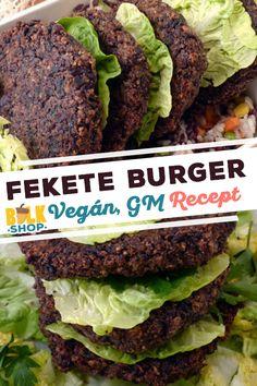 A burgerek a színüket a felhasznált rendkívül tápláló és egészséges hozzávalóktól nyerik. #feketebab #feketerizs #siitake gomba. Recept a weboldalunkon #bulkshop #recept #magyarul #növényi #burger #vegán #laktózmentes #gluténmentes #tojásmentes Bbq Rub, Main Dishes, Vegetarian Recipes, Grilling, Veggies, Beef, Food, Home, Main Course Dishes