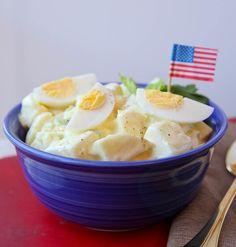 "Award-Winning ""grandma's potato salad"" : made with red potat Tahini, Side Dish Recipes, Dinner Recipes, Side Dishes, Southern Style Potato Salad, Potato Salad Dressing, Potato Salad With Egg, Cooking Recipes, Healthy Recipes"