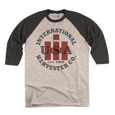 Ih Co Usa Circle Athletic Heather Black Men's Baseball T-Shirt