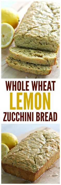 I love switching out flour, for whole wheat flour. This Whole Wheat Lemon Zucchini Bread is a new family favorite at our house. Healthy Eating Recipes, Healthy Snacks, Cooking Recipes, Lemon Zucchini Cakes, Lemon Recipes, Cake Recipes, Bread Recipes, Lemon Bread, Banana Bread
