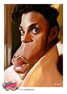Prince caricature // by Rafa Caballero. All Rights Reserved.