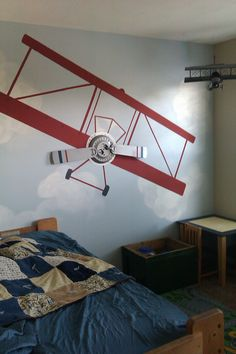 airplane wall for boys' room