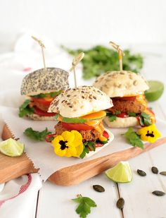 Vegan Kidney Bean and Pumpkin Seed Sliders