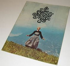 """""""The Sound of Music"""" Movie Pamphlet, Designed by Herb Lubalin, 1965"""
