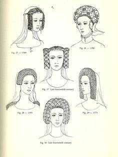 Glosario de peinados y tocados: Inglés | Joyas, pelo y accesorios de la Edad Media-  Plantagenet Crespine (1364- finales del siglo 14)