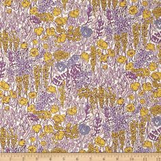 From the world famous Liberty Of London, this exquisite cotton/wool blend gabardine shirting fabric is finely woven, lightweight and ultra soft with a beautiful drape. This gorgeous fabric is oh so perfect for blouses, dresses and skirts. Colors include shades of purple, chartreuse and mauve on an ivory background.