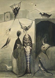 Leonora Carrington, pintora mexicana, dibujo