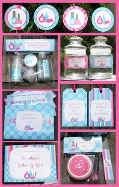 INCLUDED TEMPLATES ------------------------------------------ Type your own text into this HUGE Spa Theme Party Invitation & Decorations package. You type your own wording by yourself at home - just open the Spa Birthday Parties, Slumber Parties, Bachelorette Parties, Kinder Spa Party, Spa Party Invitations, Girl Spa Party, Spa Day Party, Kids Spa, Pamper Party