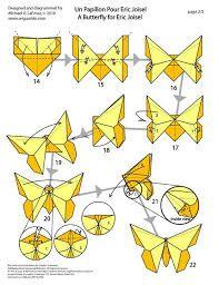 plano como hacer mariposa de papel