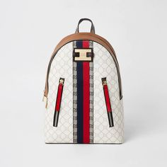 Shop our new Beige RI monogram zip front backpack at River Island today. Forever 21 Fashion, Nike Pro Women, River Island Womens, Carry On Suitcase, Faux Leather Fabric, Minimal Classic, Beige, Womens Purses, Purses And Bags