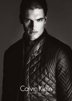 the Calvin Klein Collection men's Fall 2013 campaign feature model Matthew Terry