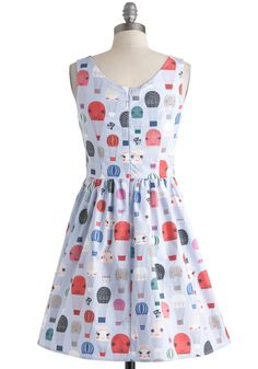 Air of Adorable Dress in Balloons | Mod Retro Vintage Dresses | ModCloth.com