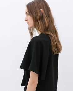 Image 6 of CROPPED TOP WITH KIMONO SLEEVES from Zara Shirt Blouses, Shirts, Zara Tops, Zara Women, Summer Tops, Cropped Top, Glamour, Crop Tops, Kimono