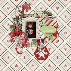 Template and Kit - All from Meagan's Creations - Holiday Wishes Collection