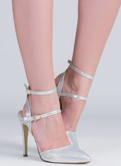 We're big fans of sparklers... Well, basically we love anything with sparkle, like these strappy pointy heels.