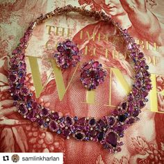 I am so thrilled to be at Neiman Marcus Scottsdale with the talented @samlinkharlan and all my wonderful friends here. Thank you for this fab photo of my new very special very rare Vivid Purple Sapphire Collier and Earrings. This special collection of gems comes from Madagascar. @neimanmarcus #scottsdale #preciousjewels #oneofakindjewelry #iworkatmm #Repost @samlinkharlan ・・・ WINE WEAR  Multi color, Madagascar, sapphires in rose gold, by Margot  McKinney.  Exclusively at Neiman Marcus. Shown…