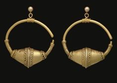 A PAIR OF BYZANTINE GOLD EARRINGS CIRCA 10TH CENTURY A.D.  Christie's