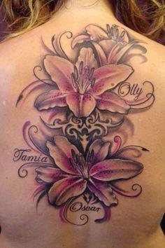 stargazer lily tattoo | Floral Tattoos by Ilona