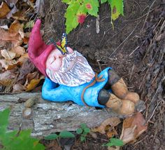 This lady makes the best gnomes!! Sleeping Gnome