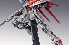 - Painted Build Modeled by RedBrick Strike Gundam, Gundam Model, 30th Anniversary, Guy, Diorama, Building, Color, Buildings, Colour