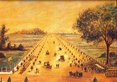 Joaquim Eugênio de Lima inaugurou em 8 de Dezembro de 1891 a Avenida Paulista o quadro de Jules Martin mostra as festividades de inauguração (Acervo do Museu Paulista da Universidade de São Paulo)
