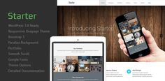 Free WordPress One Page Theme is ready for you with all functionality. It has some awesome post type such as team, slider, projects and client. We wish Starter theme will be perfect for you. -> starter-preview