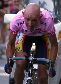 The 2013 Giro d'Italia will pay tribute to Marco Pantani, shown here in the maglia rosa at the 1999 edition.