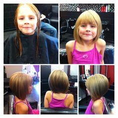 Kid's Cut. Short Hair. Bob Hair cut. This hair cut would be so cute on Arwen.