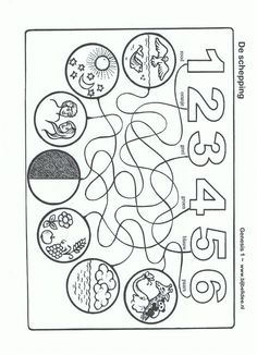 Preschool creation crafts minibooks vocabulary cards for 7 days of creation coloring pages