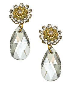 Liz Palacios Crystal Sun Kissed Teardrop Earrings #maxandchloe