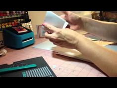 Envelope mini album - Stampin' Up has their own envelope punch board which will work great or this!