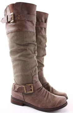 Womens Riding Winter Biker Style Low Flat Heel Knee Boots Size 3 - 8 | eBay