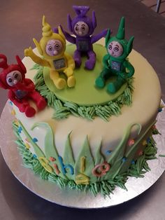 Teletubbies birthday cake for a very special child, made with love by Altefyn Cakes