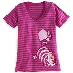 Cheshire Cat Striped Tee for Women | Tees, Tops & Shirts | Disney Store