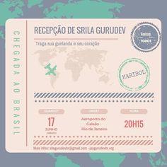 Haribol! Srila Gurudev is arriving in Brazil on this Saturday 17. #jaygurudev