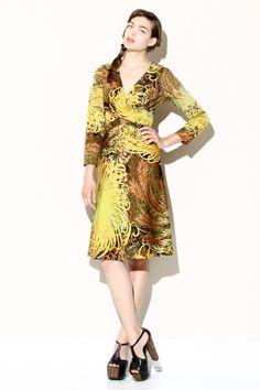 Vintage 70s Tropical Print Dress http://thriftedandmodern.com/vintage-70s-tropical-print-dress