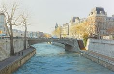 "https://www.facebook.com/MiaFeigelson  ""Le petit Pont du grand Paris "" (2014) By Thierry Duval, from Paris  - original watercolor; 58 x 87 cm - Private Collection - Suiha Gallery, Tokyo, Japan https://www.facebook.com/thierry.duvalaquarelles http://www.aquarl.free.fr/"