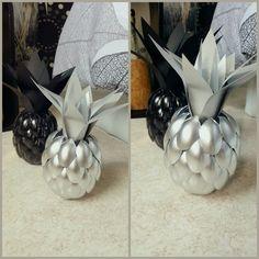#ananas #petit format #black #silver
