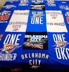 OKC Thunder quilt from t-shirts