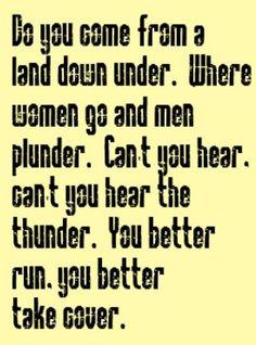 Men at Work - Land Down Under - song lyrics, song quotes, music lyrics, music quotes, songs