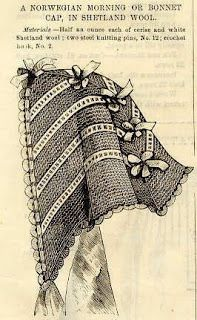 One More Stitch: Norwegian Morning Cap/Hood from Godey's, 1861