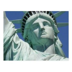 Closeup of the bust of the Statue of Liberty Postcard - postcard post card postcards unique diy cyo customize personalize